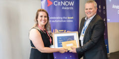 CitNOW awards winner, CEO Alistair Horsburgh presenting the certificate