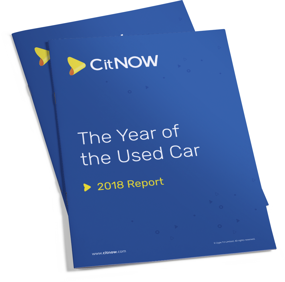 Front cover of CitNOW Year of the Used Car 2018 Report