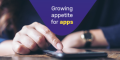 Growing appetite for apps