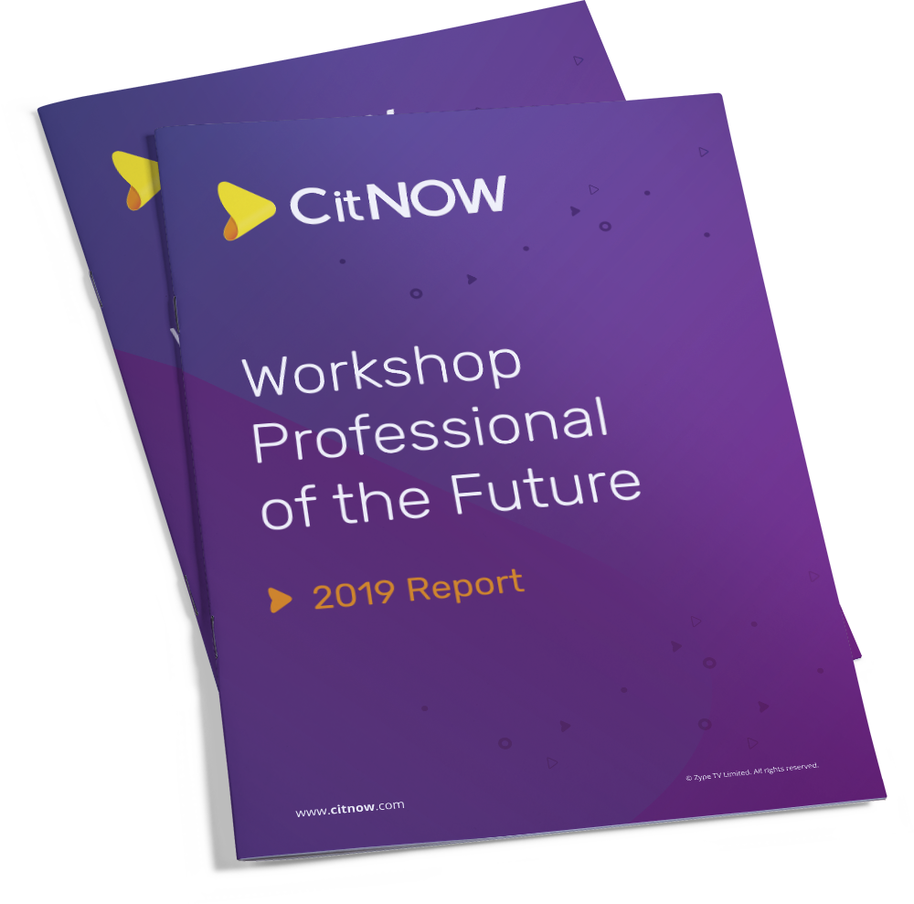 Front cover of CitNOW Workshop Professional of the Future Report 2019 Report