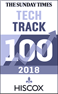 The Sunday Times - Tech Track 100 - 2018